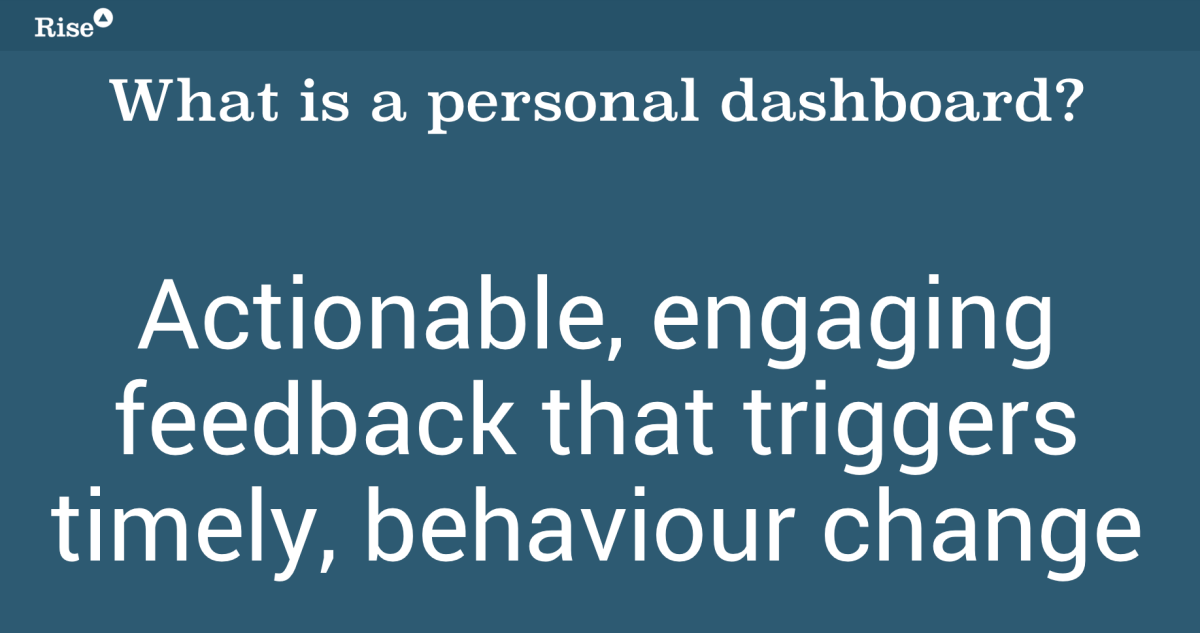 Personal Dashboards - a working definition