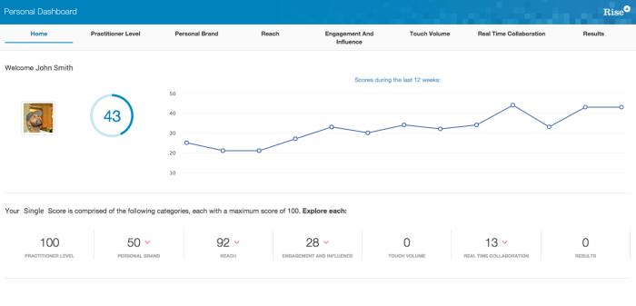 rise single score personal dashboard